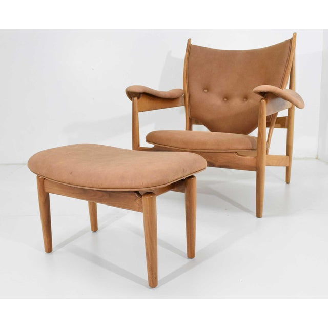 Finn Juhl Chieftain Chair and Ottoman by Baker For Sale - Image 13 of 13