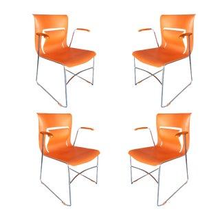 "Orange Stylex ""Rhythm"" Armchair by Sva Cvek - Set of 4 For Sale"