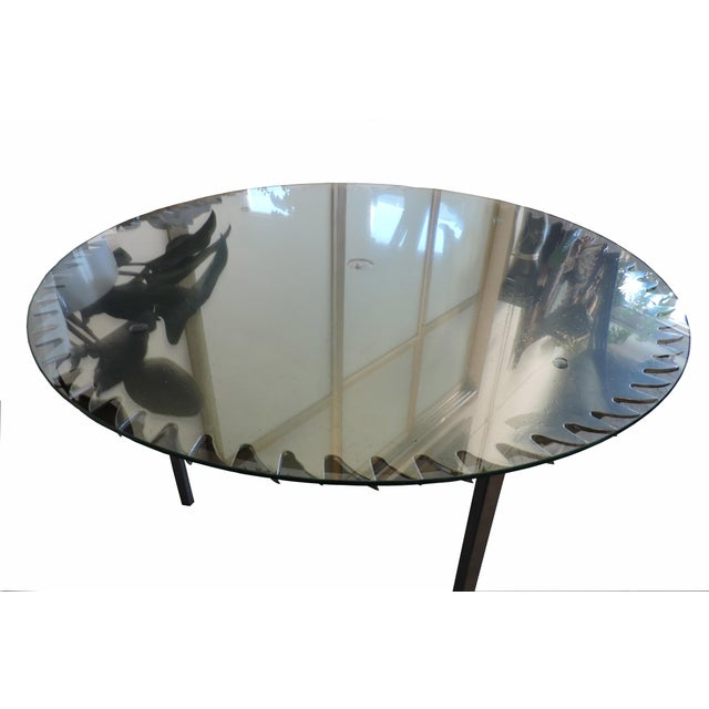 Glass Topped Saw Table For Sale In San Francisco - Image 6 of 6