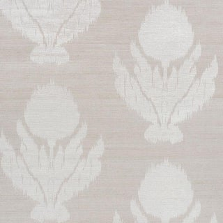 Sample - Schumacher Agra Shimmer Wallpaper in Moonstone For Sale