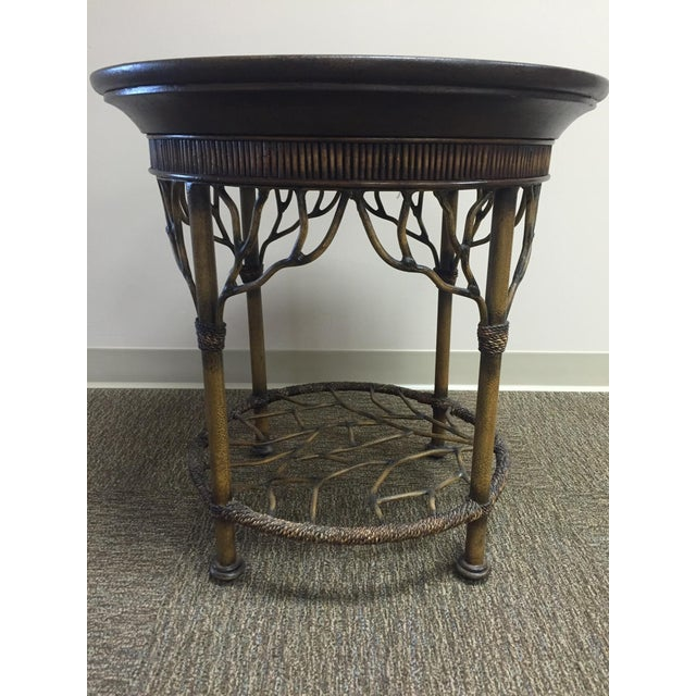 Wooden Round End Table - Image 4 of 8