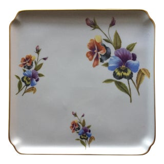 1960s Vintage Chamart Hand Painted Vanity Tray For Sale