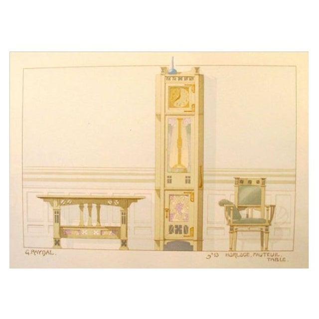Vintage French Decorator Sheet Interior/Clock - Image 1 of 3