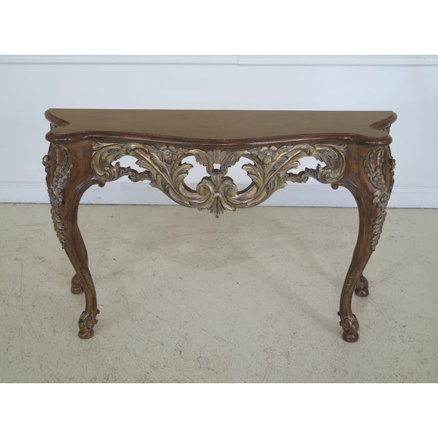 Modern Italian Carved Console Table For Sale - Image 11 of 11
