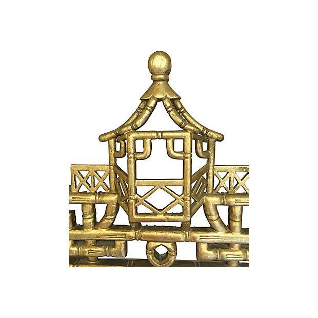 Faux-Bamboo Gilt Mirror For Sale - Image 5 of 7