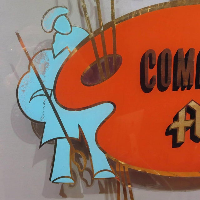Folk Art Folk Art Gilded Window From Sign Painters Storefront For Sale - Image 3 of 9