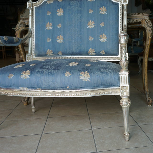 Hand Carved European Settee - Image 6 of 8