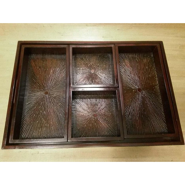 Wood Serving Tray & Bins - Image 2 of 6