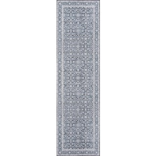 "Momeni Afshar Polyester Charcoal Runner - 2'3"" X 7'6"" For Sale"
