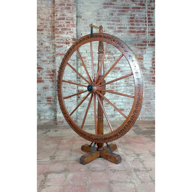 19th century Large Saloon Gaming spinning wheel of fortune size 52 x 25 x 69""