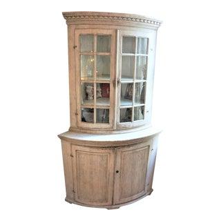 19th Century Swedish Gustavian Corner Cabinet For Sale