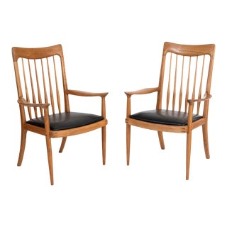 John Nyquist Studio Crafted Lounge Chairs - a Pair For Sale