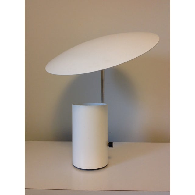"""White George Nelson for Koch & Lowy """"Half Nelson"""" Lamp For Sale - Image 8 of 8"""