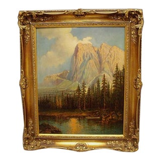 California Yosemite Landscape Oil Painting by Maxine Charles Guirard 1933 For Sale