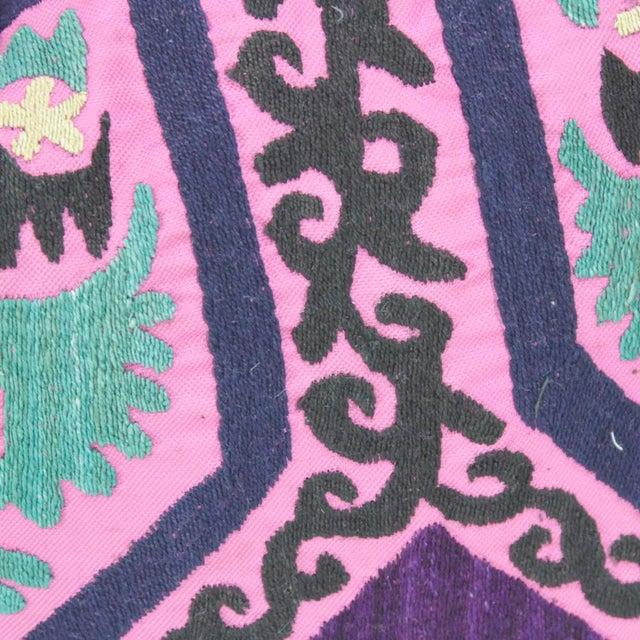 Primitive Aarayna Suzani Lumbar Pillow For Sale - Image 3 of 4