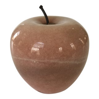 Mid-Century Italian Marble Apple Shaped Paper Weight, 1950s For Sale