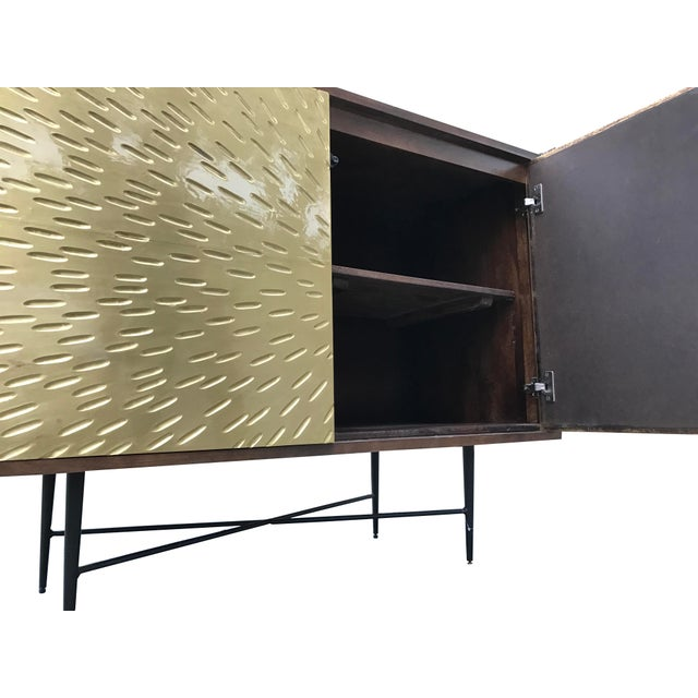 Contemporary Wooden Metal Living Room Cornell Chest Cabinet - Image 5 of 10