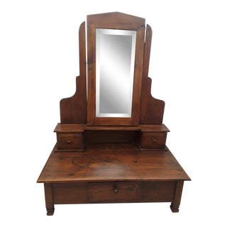 Small Teaak Wood Dressing Mirror For Sale