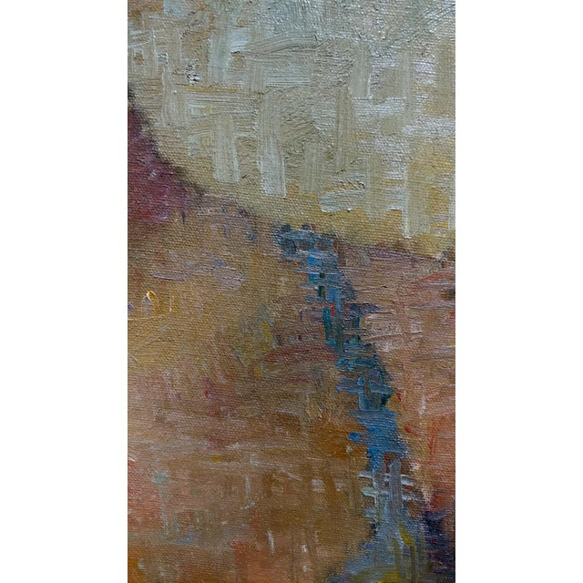 Oil Paint Stevan Kissel - Portrait of a Female Dancer - Oil Painting - Pointillism For Sale - Image 7 of 13