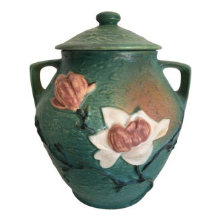 Roseville Magnolia Cookie Jar With Lid For Sale