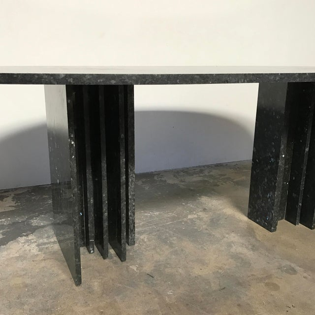 Willy Ballez Granite Dining Table For Sale - Image 4 of 7
