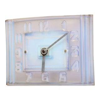 Léon Hatot 'ATO' Opalescent Glass Mantle Clock For Sale