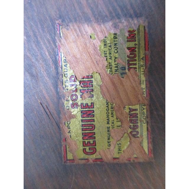 Vintage Mahogany Needlepoint Footstool For Sale - Image 11 of 13