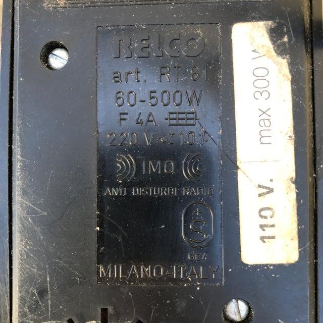 Telco Italian White Metal Floor Lamp For Sale - Image 9 of 10