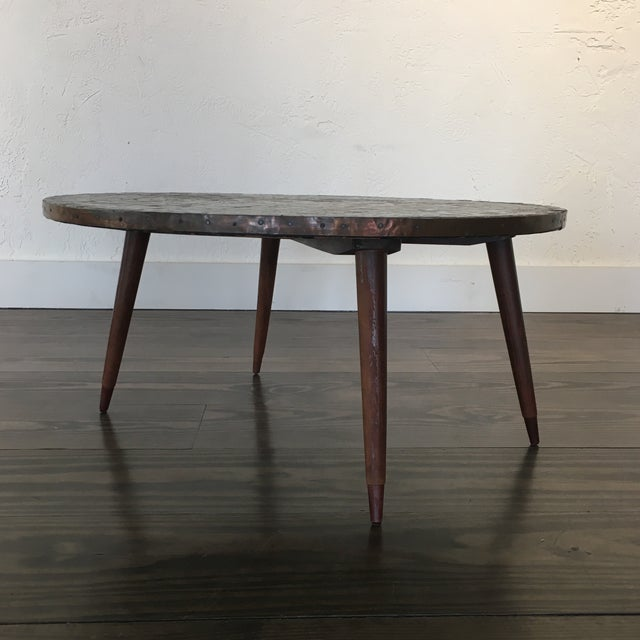 Metal Mid Century Modern Mosaic Tiled Coffee Table For Sale - Image 7 of 8