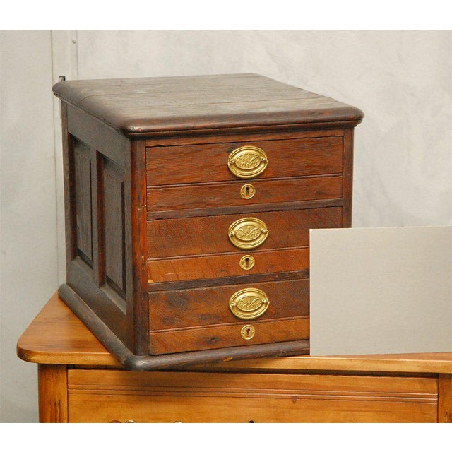 Late 19th Century Late 19th Century Desk Top File Cabinet For Sale - Image 5 of 9
