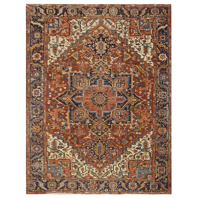 Antique Persian Heriz Rug - 9 x 11.10 - Image 1 of 9