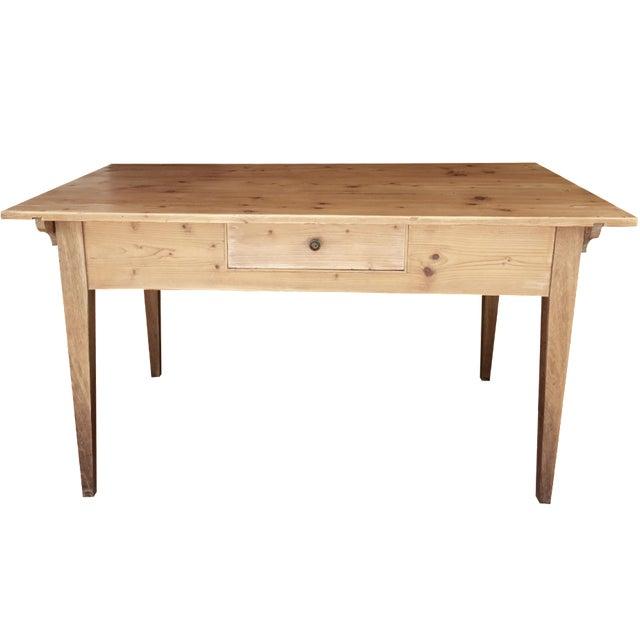 French Pine Single-Drawer Desk - Image 1 of 11