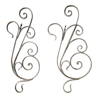 Antique Victorian Architectural Salvage Iron Accents- A Pair For Sale