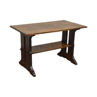 Gustav Stickley Antique Mission Oak Library Table For Sale