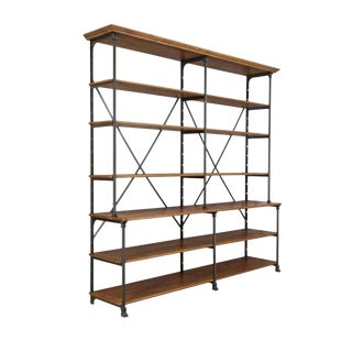 20th Century Parisian Industrial Shelving For Sale