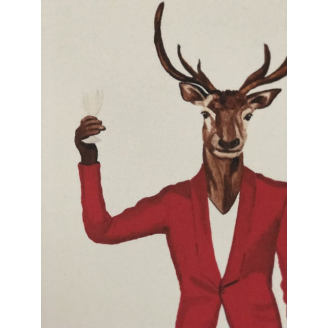 2010s Tres Chic Signed Animal Portraits For Sale - Image 5 of 8
