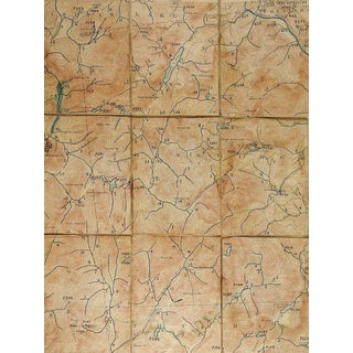 13th Lake New York 1897 Us Geological Survey Folding Map For Sale