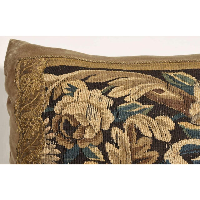 19th Century Tapestry Pillow For Sale - Image 4 of 7