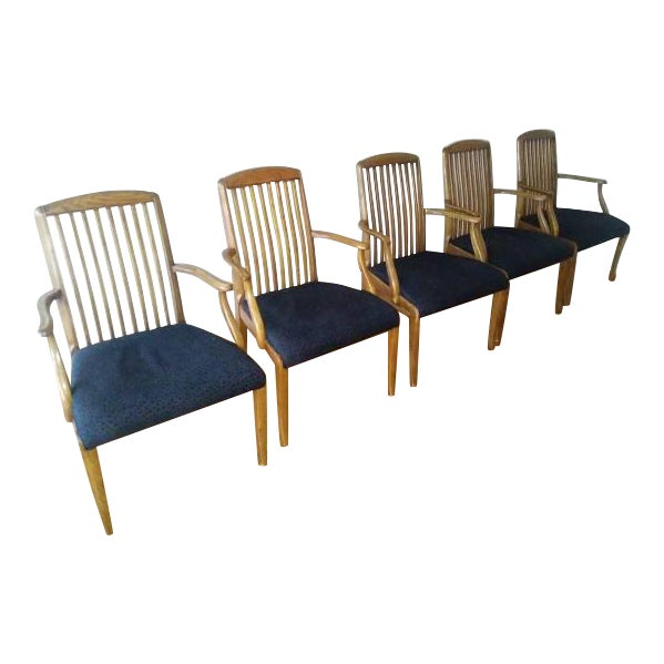 Henredon Captains Chairs - Set of 5 For Sale