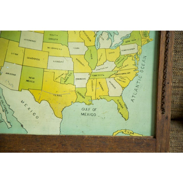 Antique Map Folk Art Painting of United States - Image 3 of 8