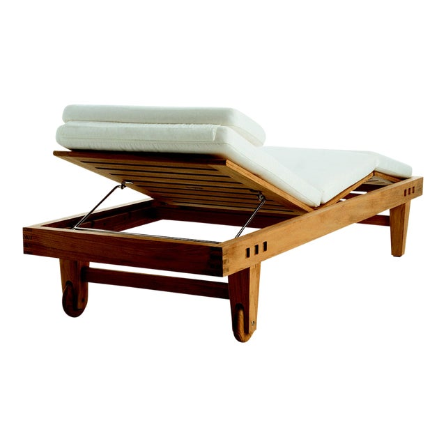 Summit Furniture Trestle Adjustable Chaise For Sale