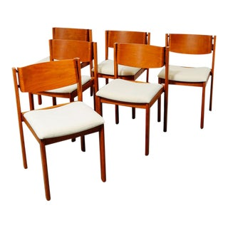 Set of 6 Mid Century Dining Chairs For Sale