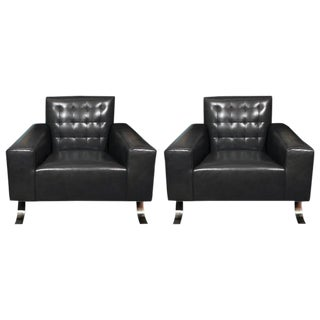 1950s Joseph-Andre Motte French Modernist Club Chairs - a Pair For Sale
