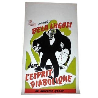 """Voodoo Man"" Bela Lugosi Movie Poster Belgian Release Circa 1944 For Sale"