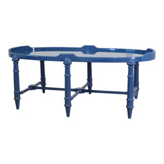 Royal Blue Lacquered Coffee Table