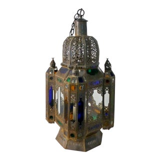 Vintage 1960s Moroccan Moorish Statement Chandelier For Sale