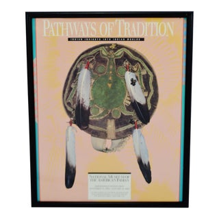 Framed Native American Pathways of Tradition Display