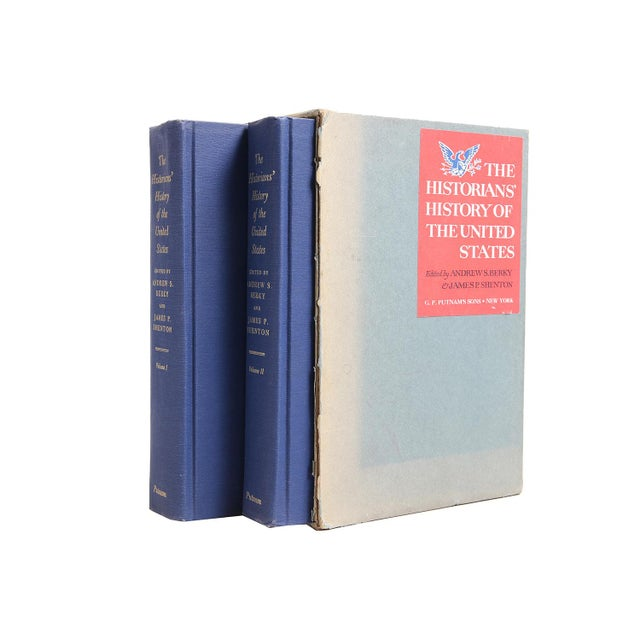 """Mid-Century Modern 1966 """"Slipcased Edition, Historians' History of the u.s.,, 2 Vols."""" Collectible Book For Sale - Image 3 of 3"""