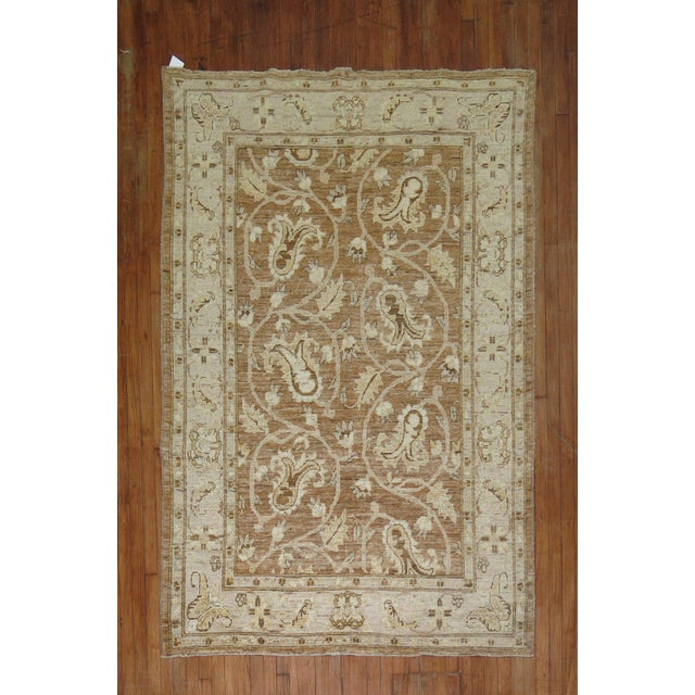 Hand-knotted, 100 % vegetable dyed one of a kind afghan rug at a modest price.