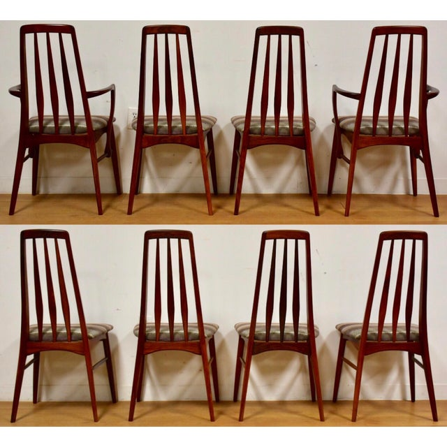 Danish Modern Dining Chairs by Niels Koefoed for Hornslet - Set of 8 For Sale - Image 3 of 12